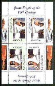 Angola 1999 Great People of the 20th Century - The Pope p...