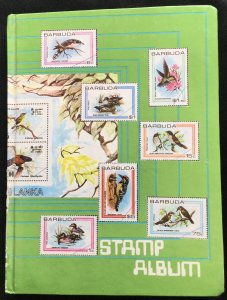 Barbuda 8 page Stock Book/Stamp Album