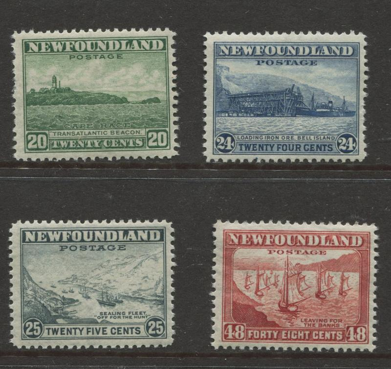 Newfoundland -Scott 263-266 - Definitive Issue -1941 -MNH - Top 4 Values