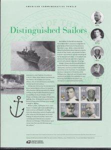 US 847 44c Distinguished Sailors 4440-4443 USPS Commemorative Stamp Panel