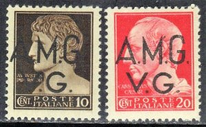 ITALY  SC# ILN7A-B MNH AMG OVERPRINT OF OCCUPIED AREAS 1946 SEE SCAN