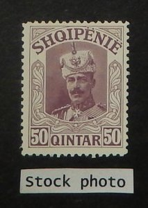 Albania 124 var. 1914 50q Brown violet, without overprint, NH