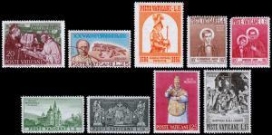Vatican City Scott 171 // 266 (1953-59) Mint/Used LH VF B