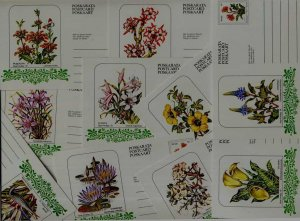 Venda 10 unused pre-stamped cards Flowers