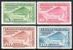 Venezuela C334-C337, MNH. 3rd Bolivarian Games. Bicycle Racecource, 1951