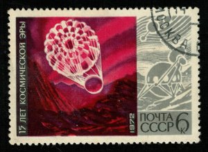 1972, Space, 15 years of the space age, 6 kop (T-8872)