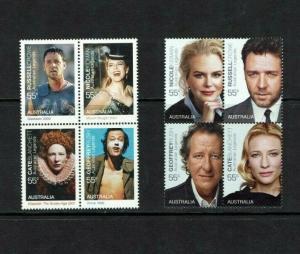 Australia: 2009, Australian Legends, (13th series) Film Stars, MNH set
