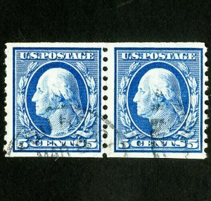 US Stamps # 447 F-VF Used pair Scott Value $375.00