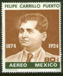 MEXICO C435, 80¢ Birth Centenary of Felipe Carrillo Puerto. MINT, NH. VF.