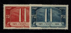 France #311-12 Mint Hinged Only 20% of SCV $25  **FREE SHIPPING**