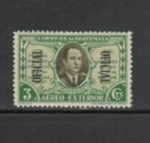 GUATEMALA #CO3 1939 3c OFFICIAL MAIL MINT VF LH O.G