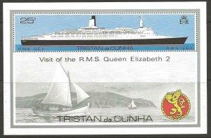 TRISTAN DA CUNHA SGMS263 1979 VISIT OF QUEEN ELIZABETH II MNH