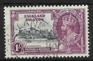 FALKLAND ISLANDS SG142c 1935 JUBILEE 1/= LIGHTNING CONDUCTOR VAR USED