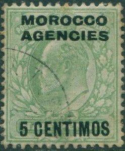Morocco Agencies 1907 SG112 5c on ½d green KEVII FU