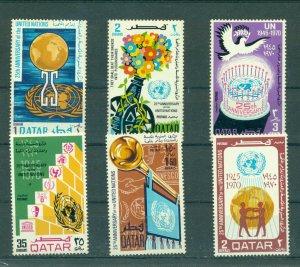 Qatar - Sc# 226-31. 1970 25th Ann. United Nations. MNH $26.65.