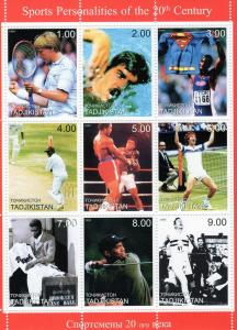 Tajikistan 1999 - Cricket - Sports Sheetlet (9) Perforated MNH