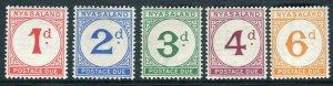 NYASALAND-1950 Postage Due.  An unmounted mint set Sg D1-D5