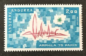 Andorra(FR) 1975 #241 Unused/MH-Gum Disturbance, CV $1.75
