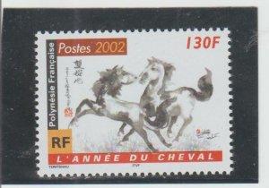 French Polynesia  Scott#  816  MNH  (2002 New Year 2002)