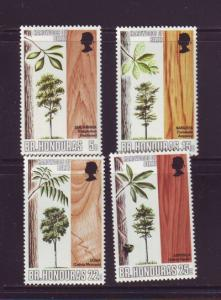 British Honduras Sc 259-62 1970 Trees stamp set mint NH