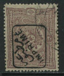 Turkey 1892 overprinted Newspaper stamp 20 paras rose used
