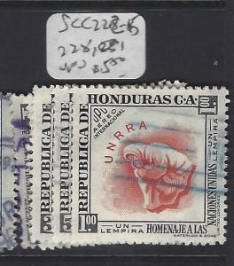 HONDURAS  (PP0401B)  SC C222-6, 228 231     VFU