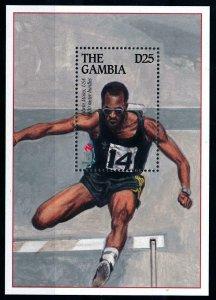 [101685] Gambia 1995 Olympic games Atanta athletics Eowin Moses Sheet MNH