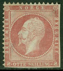 EDW1949SELL : NORWAY 1856 Scott #5 Corner stamp. Mint No Gum. Catalog $1,400.00.