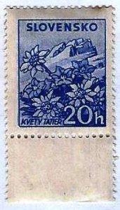 SLOVAKIA - #104 - UNUSED MINT NO GUM  - 1944 - SLOVA023DTS19
