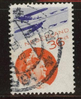 Netherlands Scott C9 used airmail stamp