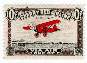 (I.B) Canada Private Air Mail : Cherry Red Airline 10c