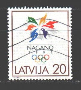 Latvia. 1998. 474. Nagano Winter Olympics. USED.