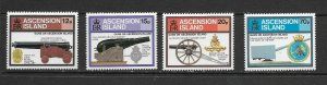 ASCENSION ISLAND - 1985 MILITARY FIREARMS - SCOTT 368 TO 371 - MNH