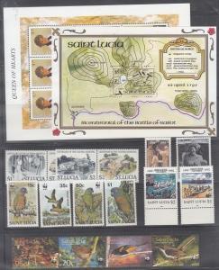 St. Lucia Mint NH modern sets (Catalog Value $74.50)