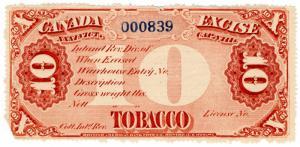 (I.B) Canada Revenue : Tobacco Duty 10lb