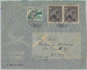 81484 - CHILE - POSTAL HISTORY -  Mixed Franking on COVER to ITALY  1956