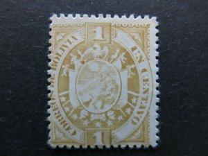 A4P31F123 Bolivia 1894 1c mint no gum