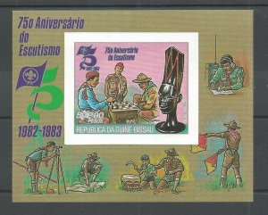 1982 Guinea-Bissau Scouts 75th anniversary SS chess Imperf
