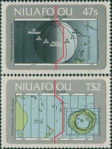 1984 Niuafo'ou 46-47 Islands Map 5,00 €