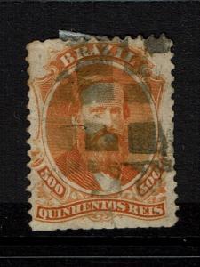 Brazil SC# 60, Used, Large Hinge Remnant - Lot 070417