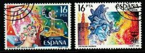 SPAIN SG2757/8 1984 FESTIVALS FINE USED