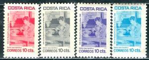 Costa Rica; 1982: Sc. # RA93-RA96: **/MNH Cpl. Set