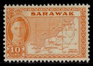 SARAWAK GVI SG186, 10c orange, M MINT.