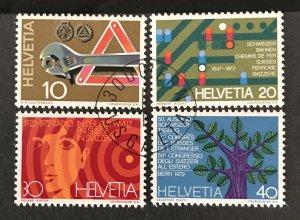 Switzerland 1972 #540-43, Used, CV $1.40