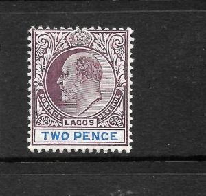 LAGOS 1904-06  2d   KEVII  MLH   SG 56a