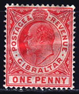 Gibraltar. 1907. 57 of the series. King Edward 7. MLH.