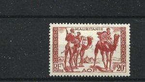 MAURITANIA  1938 - 40  20C  VERMILLION            MH