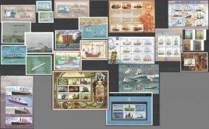 KS GRENADA TRANSPORT SAILING SHIPS & BOATS 8KB+13BL+SET MNH