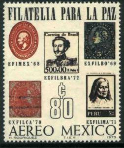 MEXICO C414, Exfilbra72 Interamerican Philat Exhibition. MINT, NH. VF.