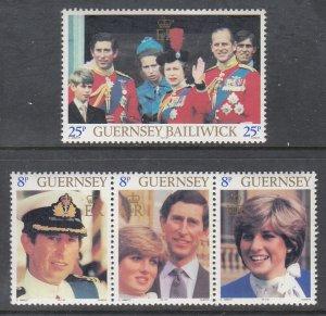 Guernsey 224-226 MNH VF